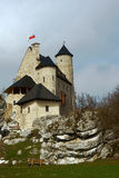 Medieval castle with tower in Bobolice. Poland Stock Photography