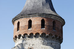 Medieval castle tower closeup Stock Photo