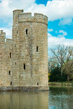 Medieval castle tower with moat Royalty Free Stock Photos