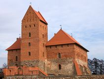 Medieval castle tower in Trakai, Lithuania Stock Photos