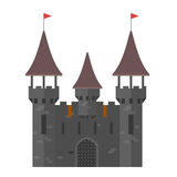 Medieval castle with towers - walled town Royalty Free Stock Photography
