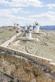 medieval castle town of Consuegra in Toledo, Spain Royalty Free Stock Image