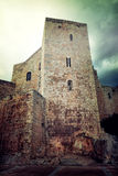 Medieval castle in the town of Peniscola, Spain Stock Images