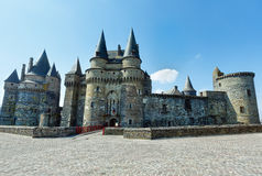 Medieval castle in the town of Vitre. Royalty Free Stock Photo