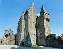 Medieval castle in the town of Vitre. Stock Images