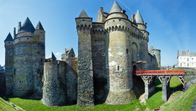 Medieval castle in the town of Vitre. Royalty Free Stock Images