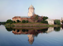 Medieval castle in the town of Vyborg. Stock Images