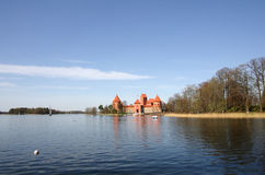 Medieval castle in Trakai Stock Photo