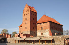 Medieval castle in Trakai Stock Image