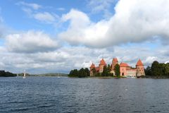 Medieval castle in Trakai Royalty Free Stock Photo