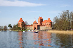 Medieval castle in Trakai Royalty Free Stock Photography