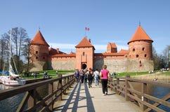 Medieval castle in Trakai Stock Images