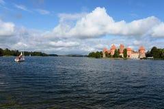 Medieval castle in Trakai Royalty Free Stock Photos