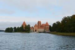 Medieval castle in Trakai Stock Photos