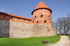 Medieval castle in Trakai Royalty Free Stock Image