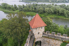 Medieval castle Tropsztyn in Poland Stock Images