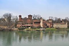 Medieval Castle in Turin Stock Image