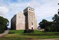Medieval castle in Turku, Finland stock image