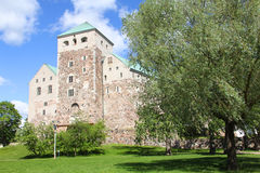 Medieval castle in Turku, Finland Stock Images