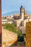 Medieval castle in Urbino, Marche, Italy Stock Photography