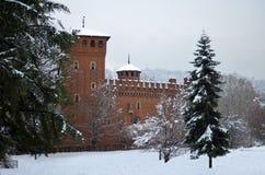 Medieval castle in Valentino Park, Turin. Turin, Italy: medieval castle in Parco del Valentino Stock Photo