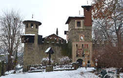 Medieval castle in Valentino Park, Turin Stock Images
