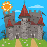 Medieval castle vector illustration Royalty Free Stock Image