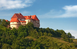 A medieval castle - Veliki Tabor - Croatian castle Stock Photos