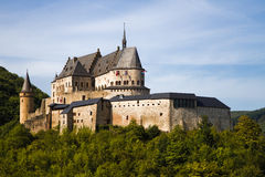 Medieval Castle of Vianden, Luxembourg. Medieval Castle Vianden, build on top of the mountain in Luxembourg or Letzebuerg Royalty Free Stock Images