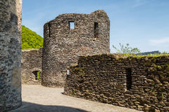 Medieval castle in Vianden. Luxembourg Royalty Free Stock Photos