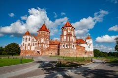 Castle Mir in Belarus royalty free stock images