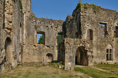 Medieval castle of Villandraut in Gironde Royalty Free Stock Images
