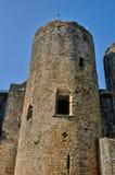 Medieval castle of Villandraut in Gironde Stock Photos
