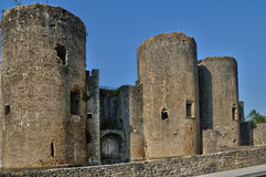 Medieval castle of Villandraut in Gironde Stock Photography
