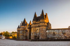 Medieval castle of Vitre Brittany, France. Royalty Free Stock Photos