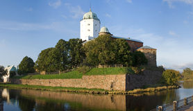 Medieval castle in Vyborg Stock Images