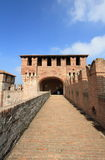 Medieval castle walkway Royalty Free Stock Images