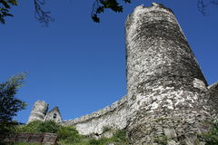Medieval castle wall. Outer walls of Bezdez castle in Czech Republic royalty free stock photography