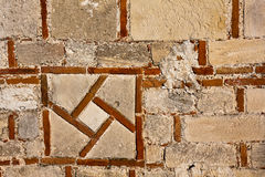 Medieval Castle Wall. Pattern on the Baba Vida castle wall in Vidin, Bulgaria Stock Image