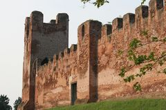 Medieval castle wall Stock Image