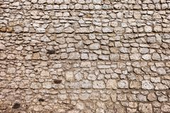 Medieval Castle Wall Texture. Medieval castle stone wall background or texture from Wawel Castle in Krakow, Poland royalty free stock photography