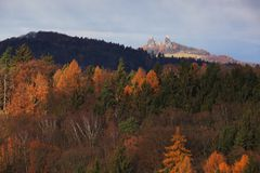 Castle Trosky in Bohemian paradise royalty free stock photos