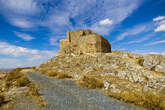 Medieval castle and windmills of Consuegra in Toledo province, C Stock Photo