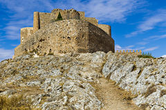 Medieval castle and windmills of Consuegra in Toledo province, C Stock Images