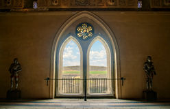 Medieval castle window with view Stock Image