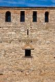 Medieval Castle Windows. Small windows on the walls of Baba Vida fortress in Vidin, Bulgaria Stock Image
