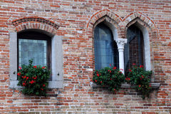 Medieval Castle Windows Stock Photography