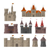 Medieval castles, fortresses and strongholds Royalty Free Stock Photos