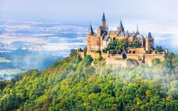 Medieval castles of Germany - impressive Hohenzollern Stock Photography