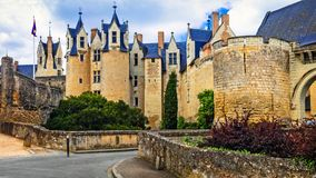 Medieval castles of Loire valley - Montreuil-Bellay. France Royalty Free Stock Photography
